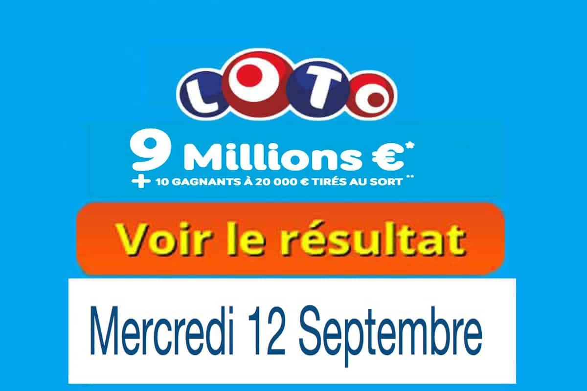 fdj résultat loto 12 septembre 2018