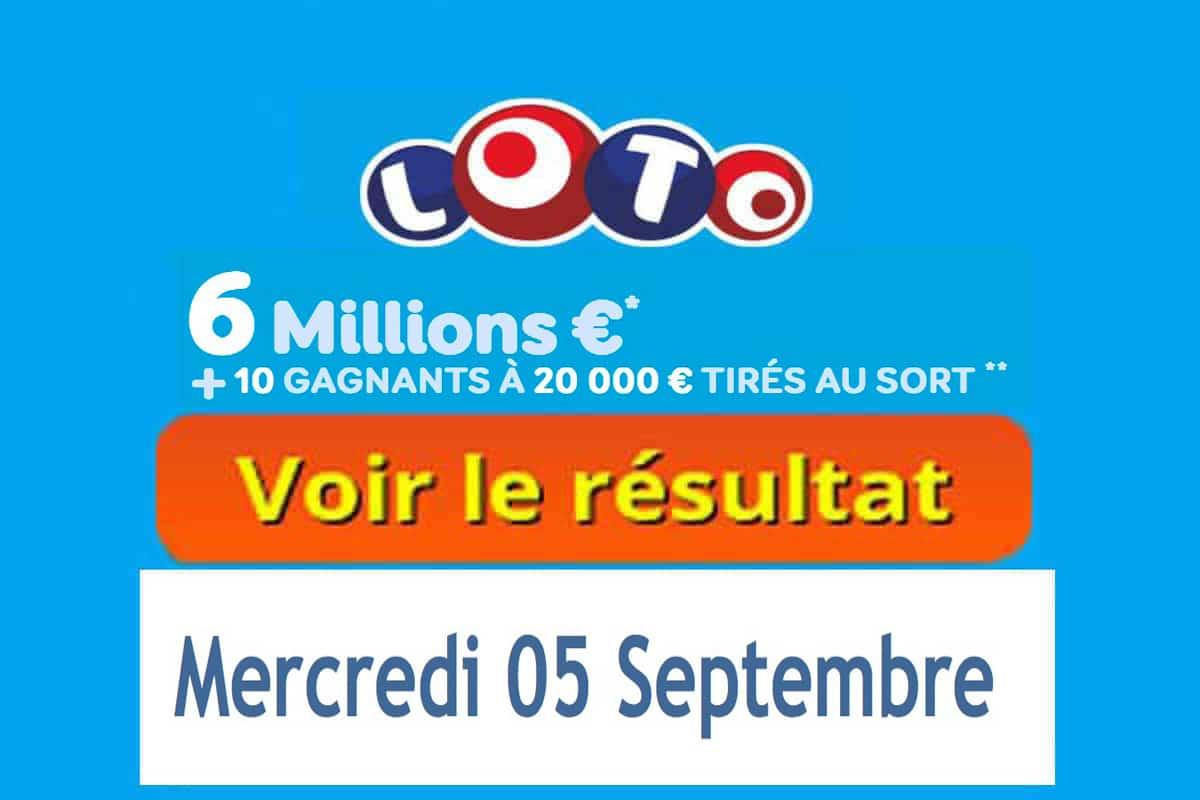 résultat loto 6 septembre 2018