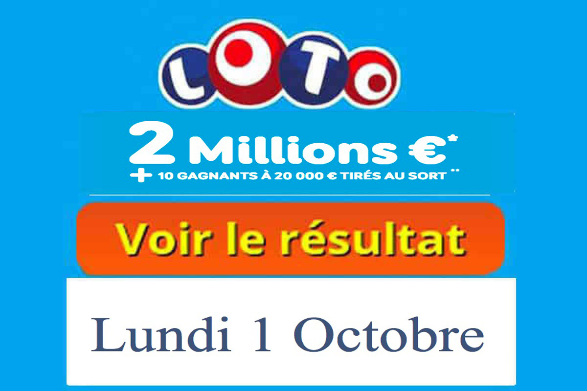 résultat loto 1 octobre 2018
