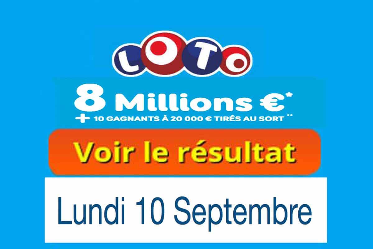 résultat loto 10 septembre 2018