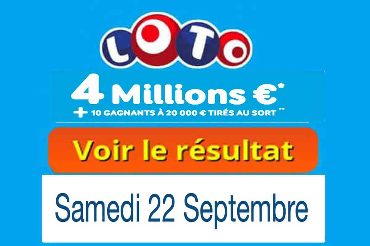 résultat loto 22 septembre 2018