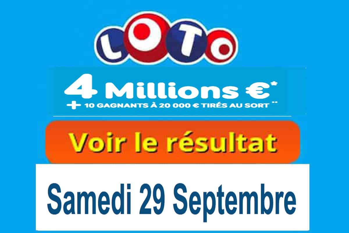 résultat loto 29 septembre 2018