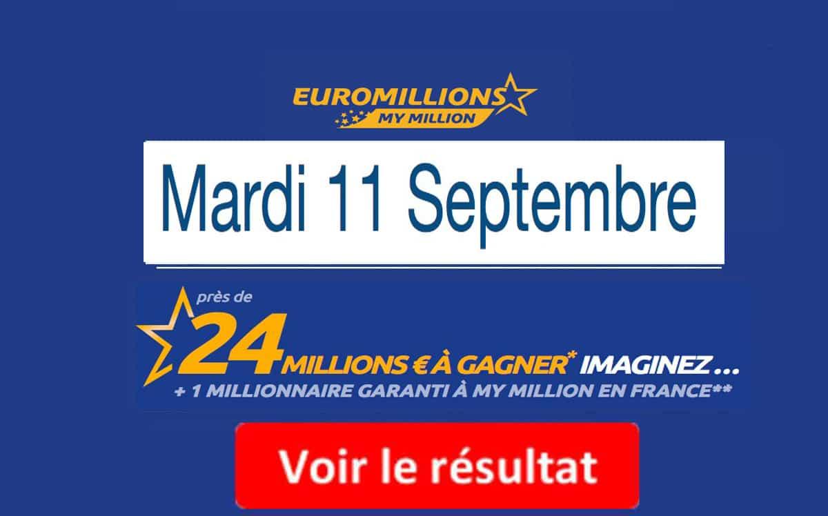 resultat euromillions mardi 11 septembre 2018