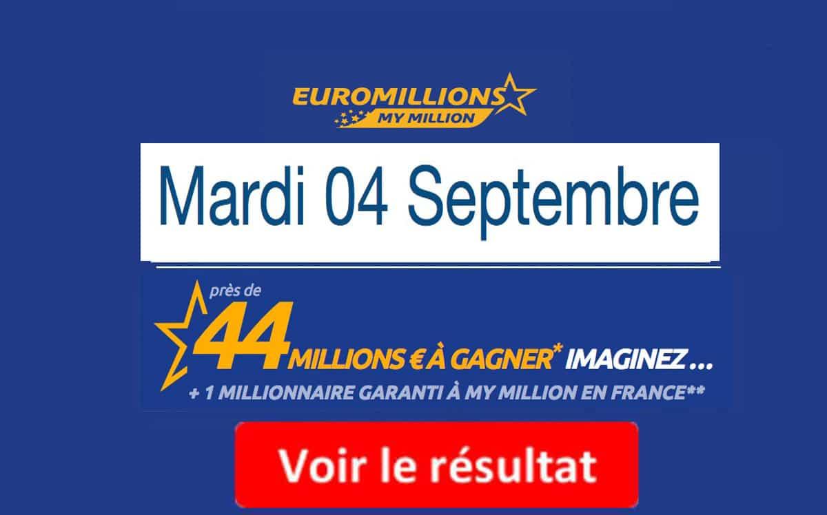 résultat euromillions 4 septembre 2018