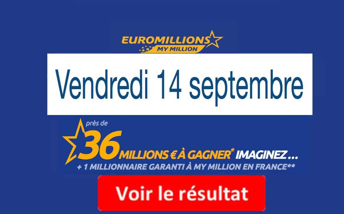 résultat euromillion 14 septembre 2018