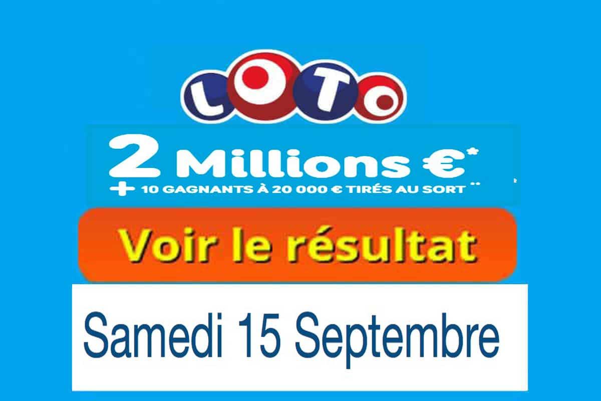 résultat loto 15 septembre 2018