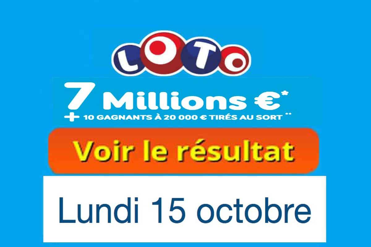 résultat loto 15 octobre 2018