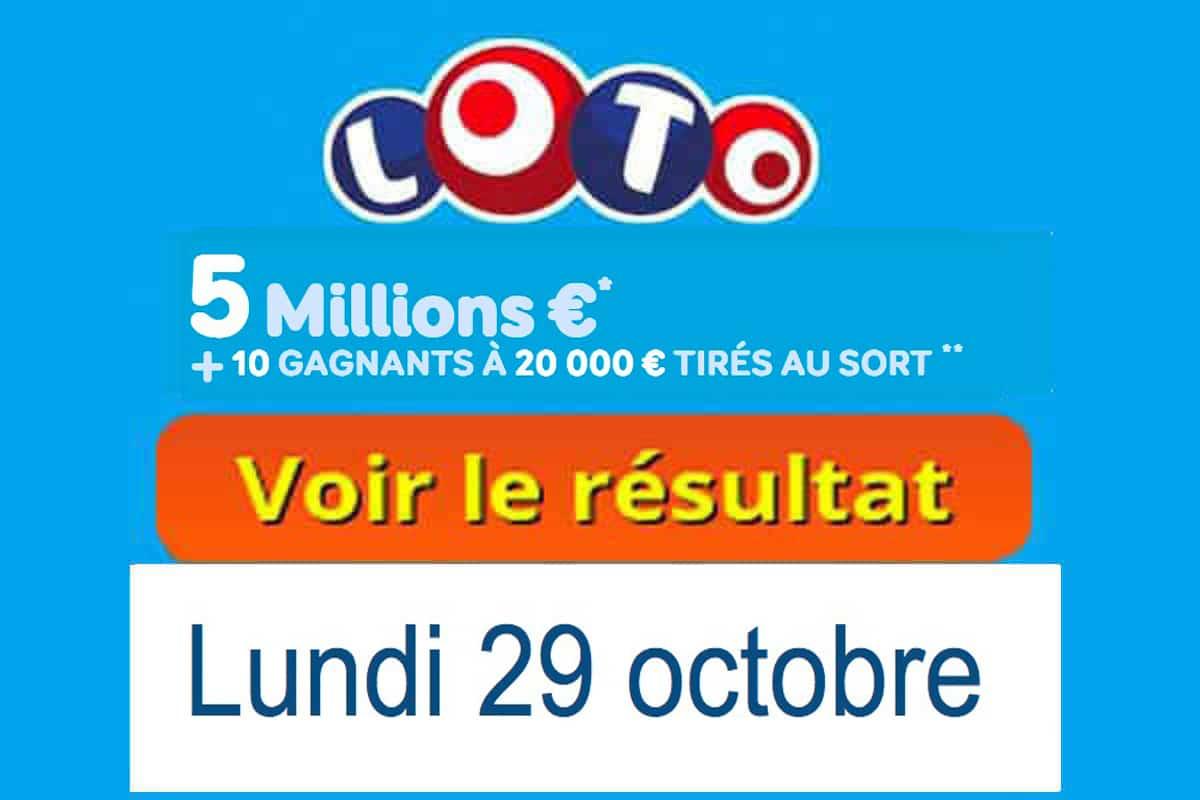 resultat loto 29 octobre 2018