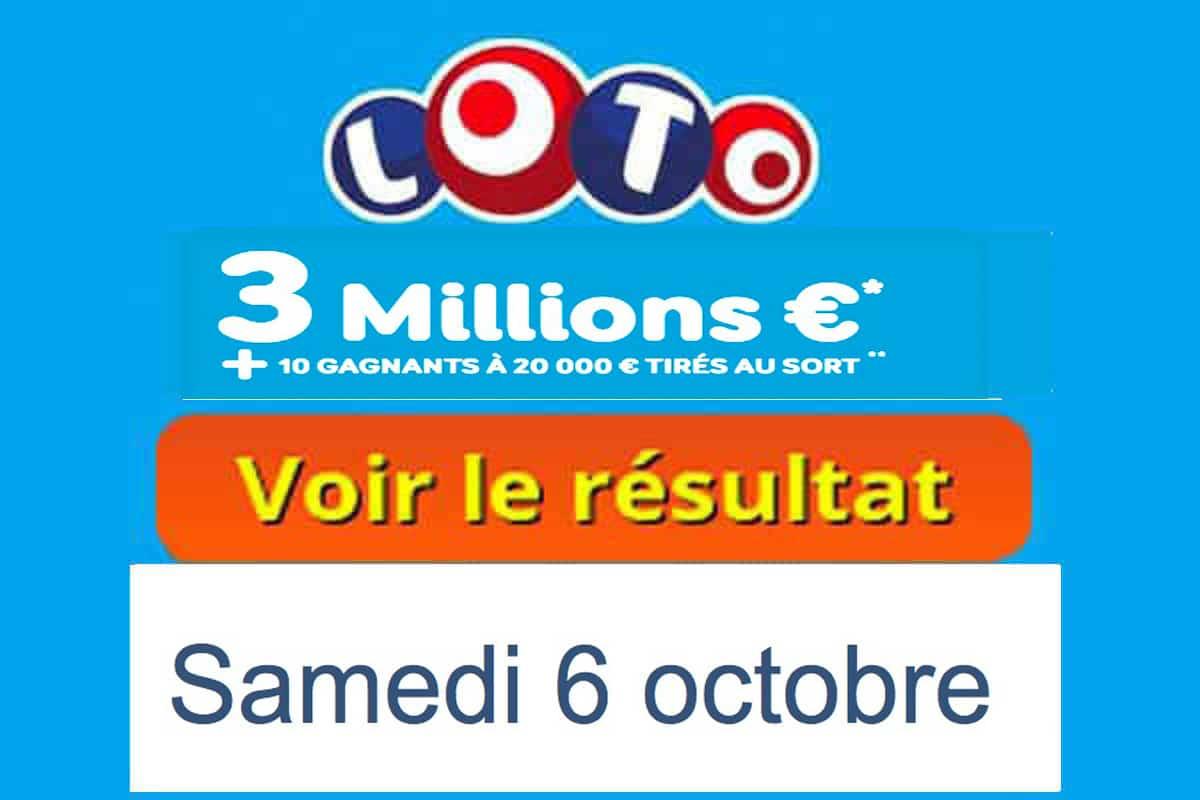 resultat loto 5 octobre 2018