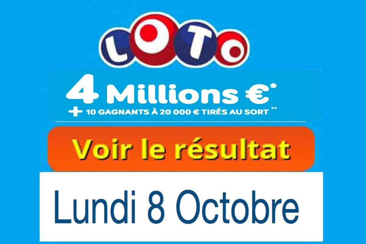 résultat loto 8 octobre 2018