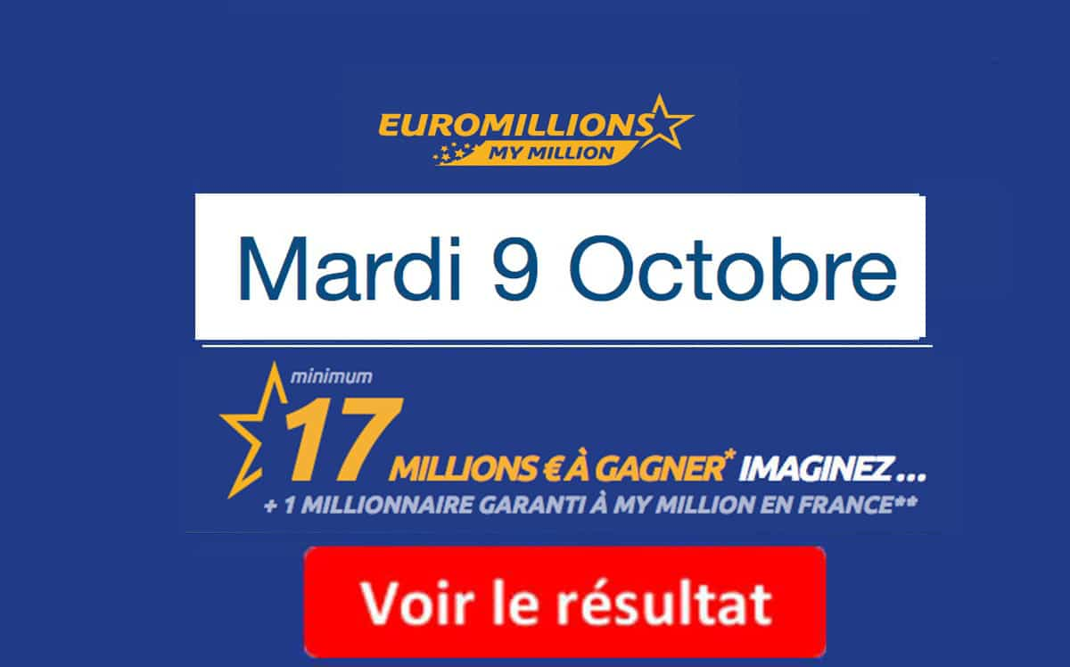 résultat euromillions mardi 9 octobre 2018