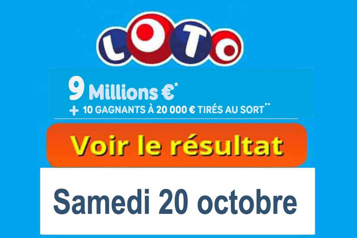 résultat loto 20 octobre 2018