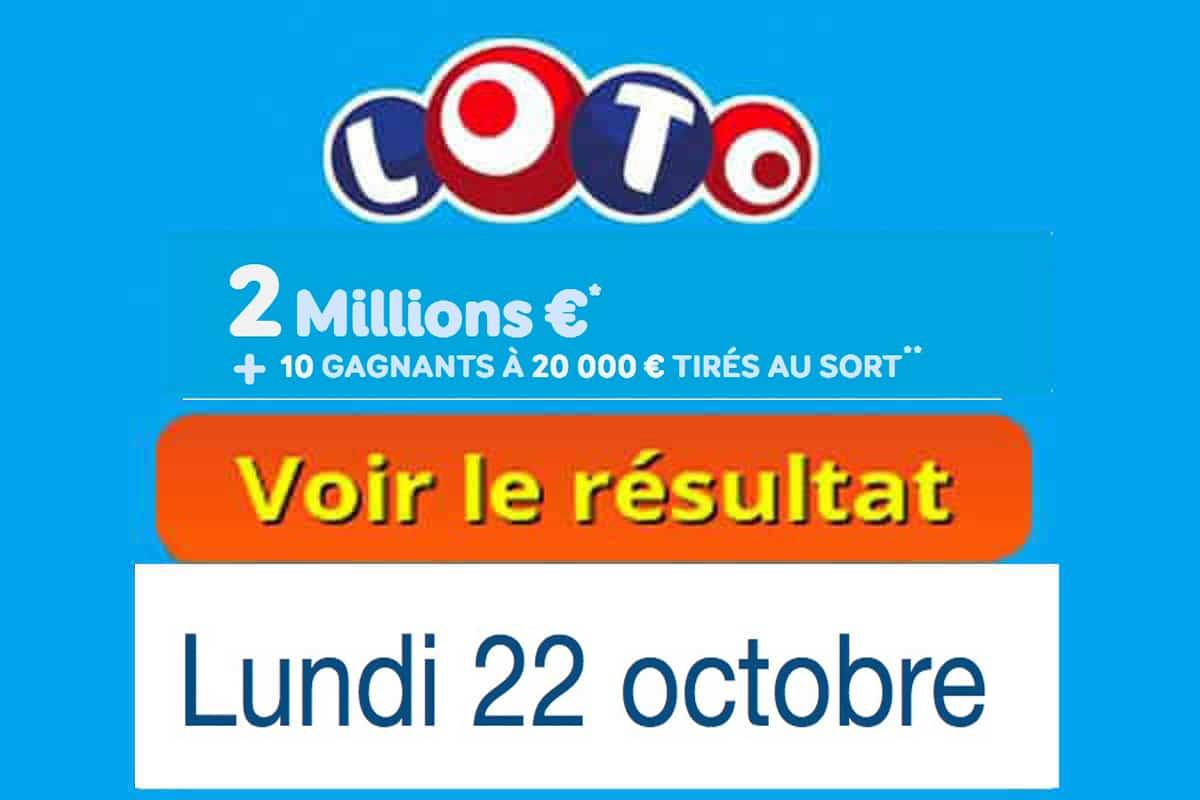 resultat loto 22 octobre 2018