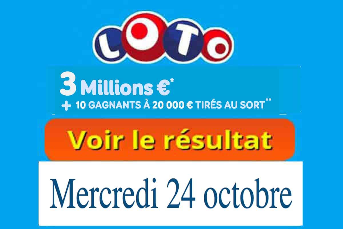 resultat loto 24 octobre 2018
