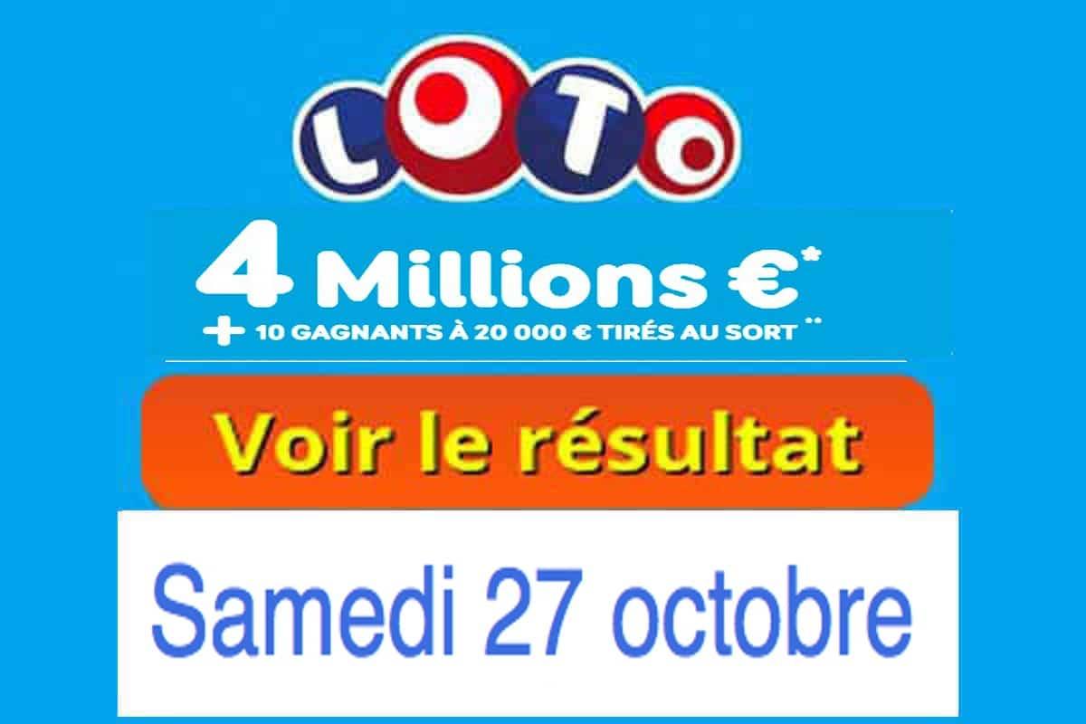 resultat loto 27 octobre 2018