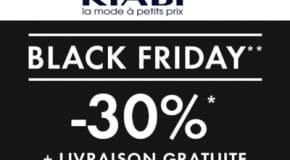 Black Friday Kiabi -30% de réduction + livraison offerte