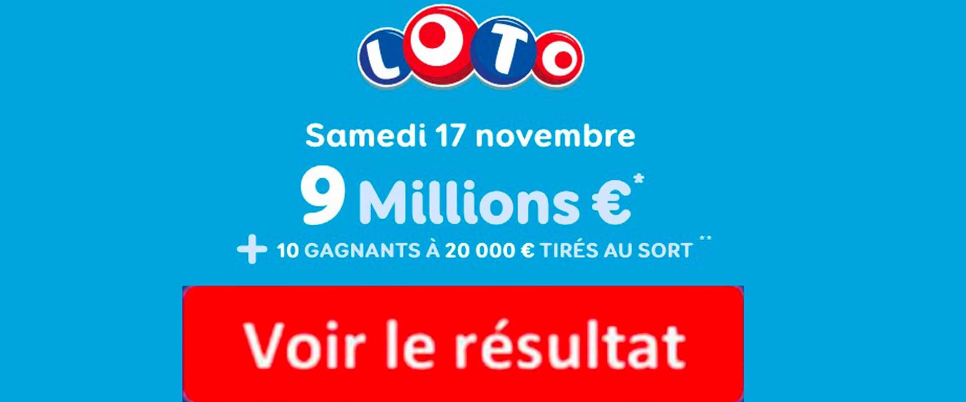fdj resultat loto 17 novembre 2018