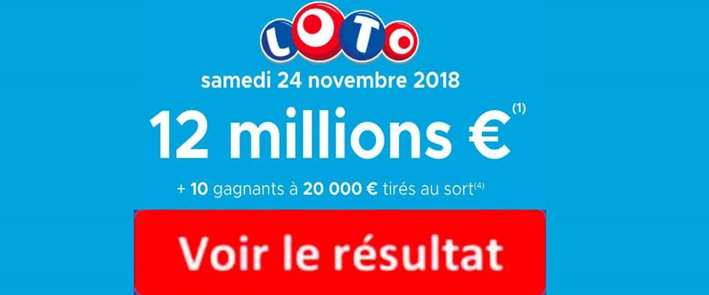 fdl resultat loto 24 novembre 2018