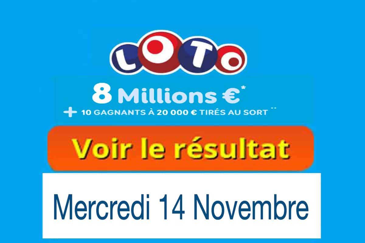 fdj resultat loto 14 novembre 2018