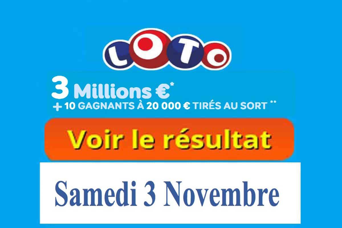 resultat loto 3 novembre 2018
