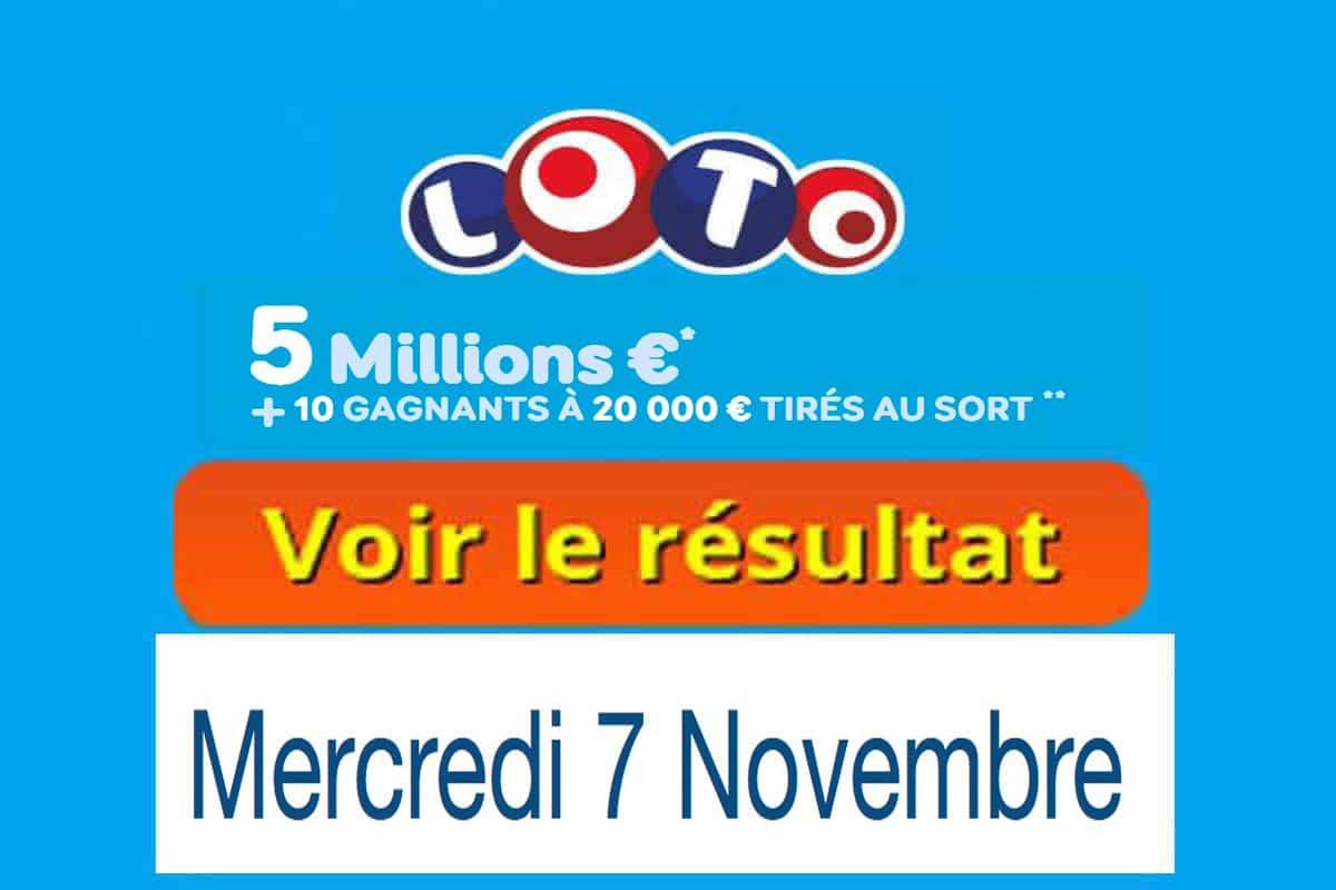 fdj resultat loto 7 novembre 2018