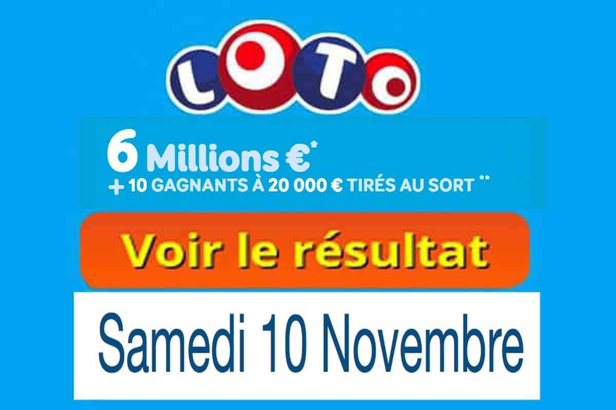 resultat loto 10 novembre 2018