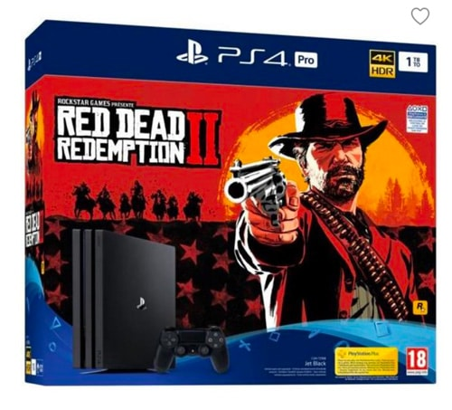 Pack PS4 Pro 1To Noire + Red Dead Redemption 2 Edition Standard