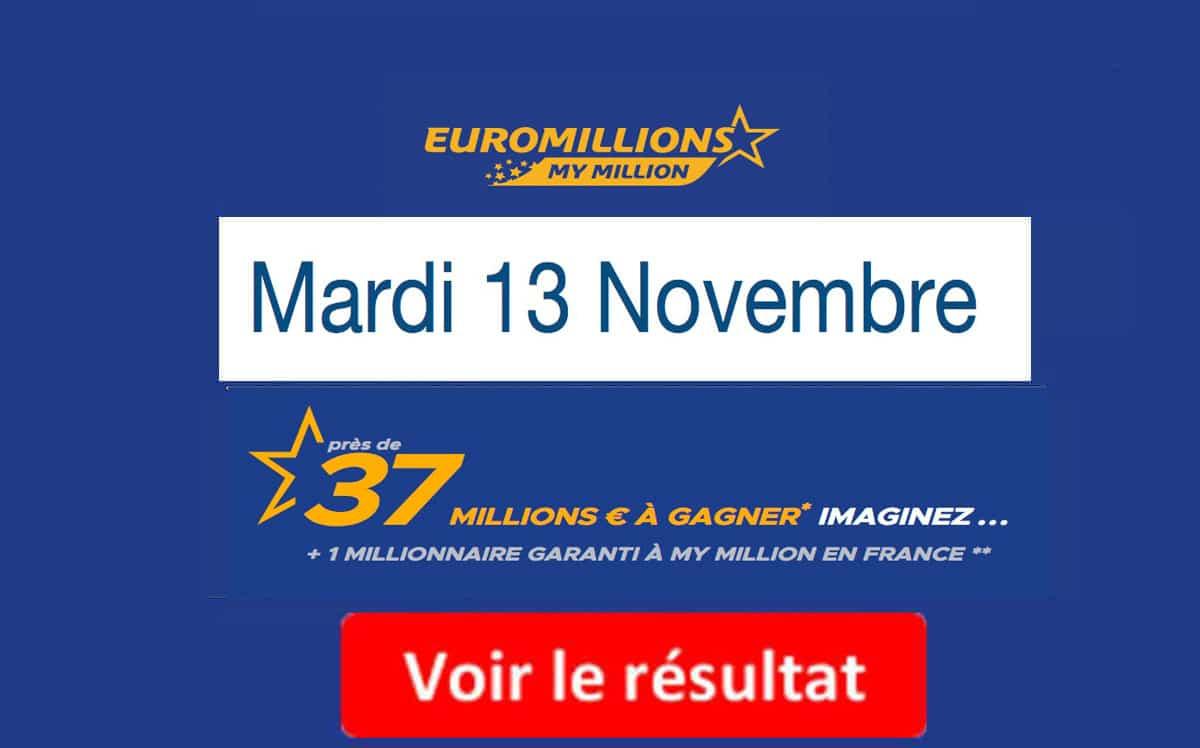 fdj resultat euromillion 13 novembre 2018