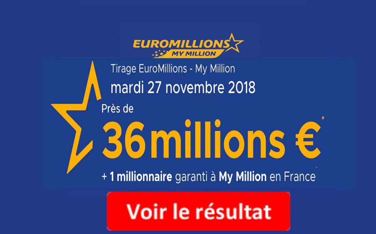 resultat euromillions mardi 27 novembre 2018