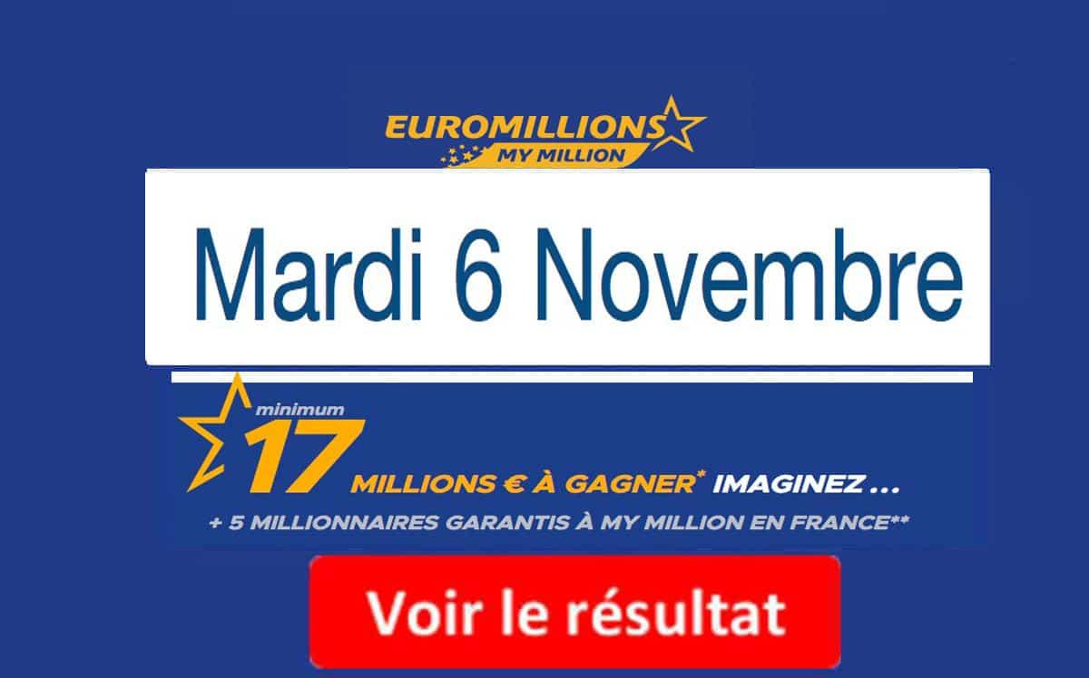 resultat euromillions mardi 6 novembre 2018