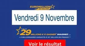 FDJ: Résultat Euromillions, My Million tirage du Vendredi  9 Novembre 2018 [En Ligne]