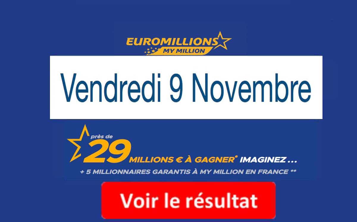 fdj résultat euromillion 9 novembre 2018