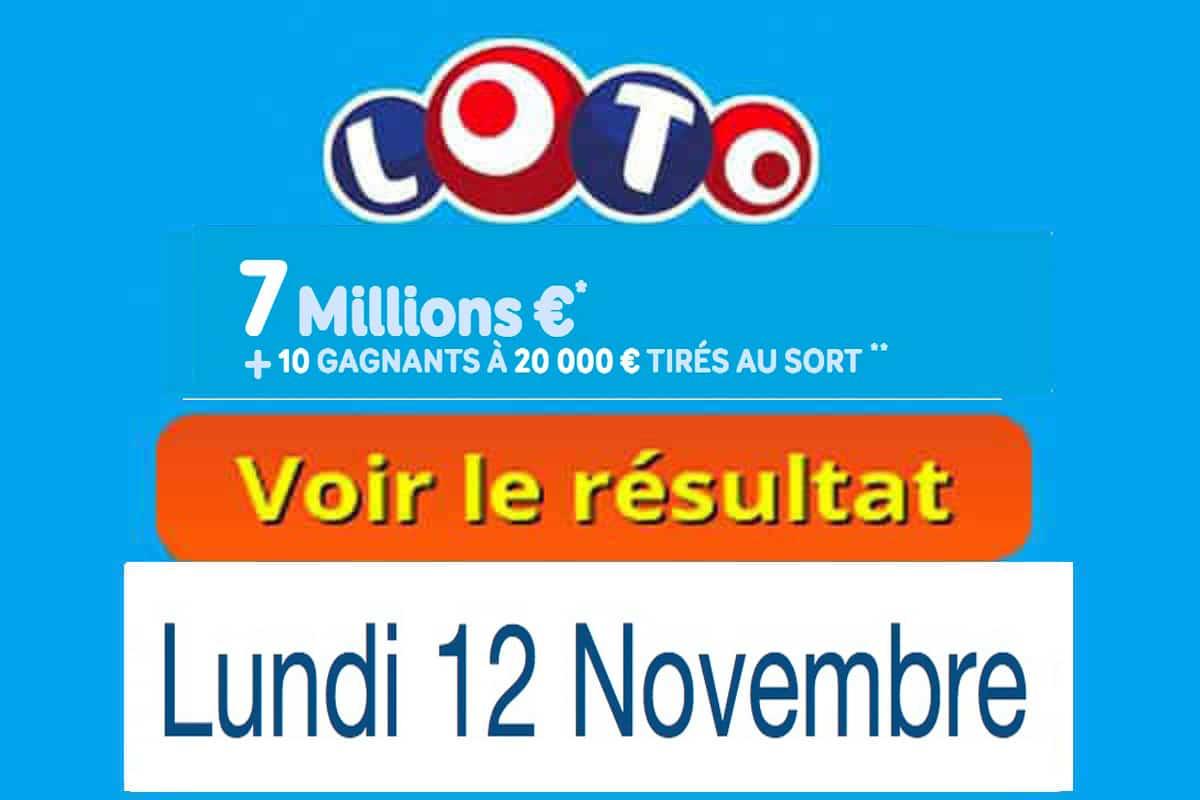 resultat loto 12 novembre 2018