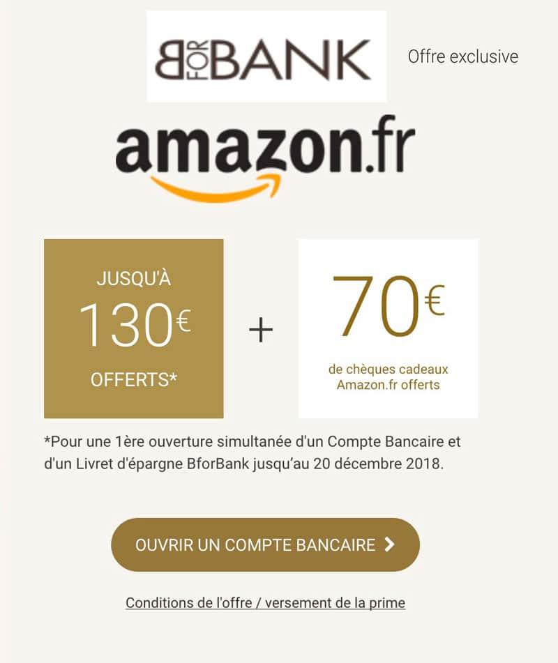 bforbank offre code promo amazon