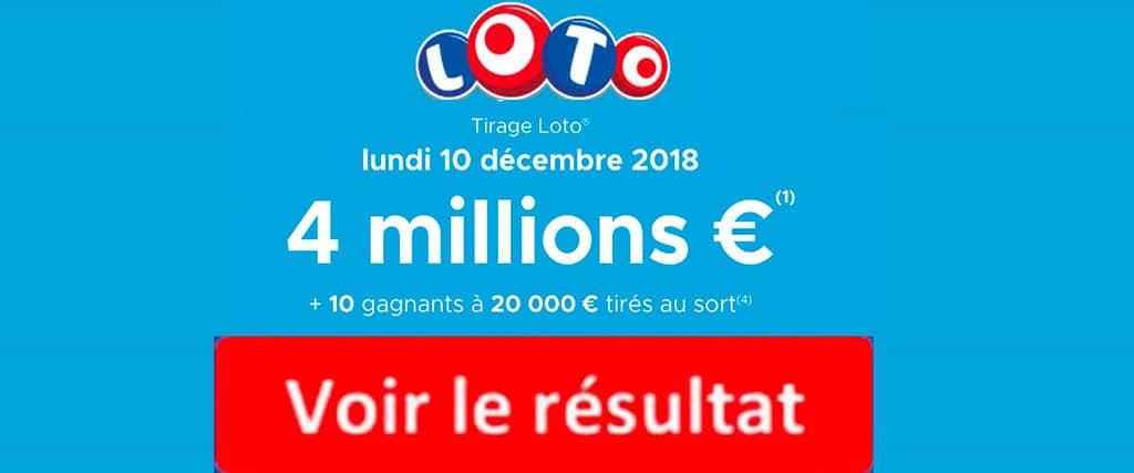 fdj résultat loto 10 décembre 2018