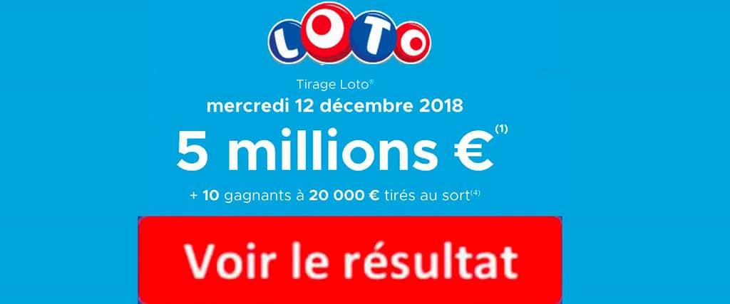 fdj résultat loto 12 decembre 2018