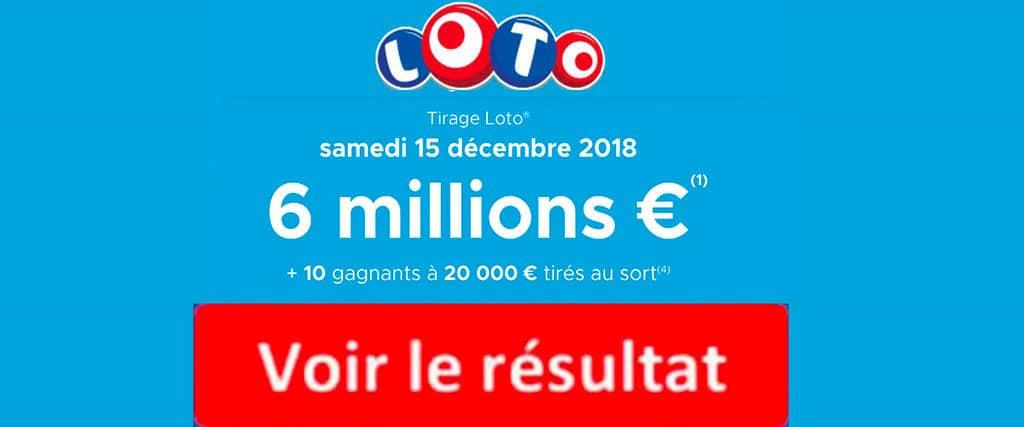 fdj résultat loto 15 decembre 2018