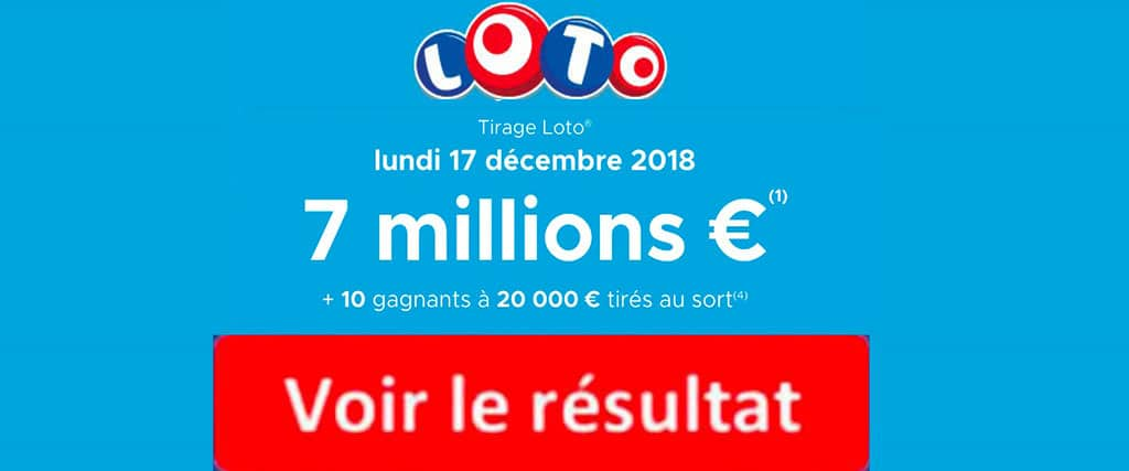 fdj résultat loto 17 décembre 2018