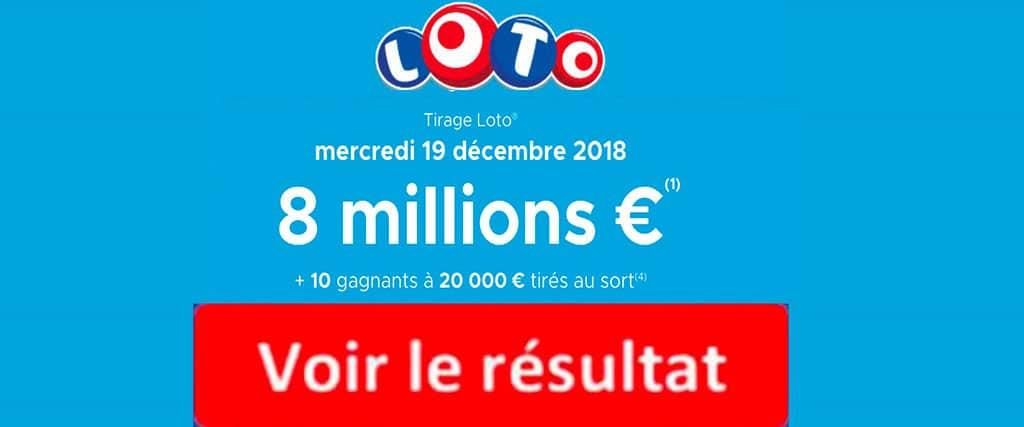 résultat FDJ loto 19 decembre 2018