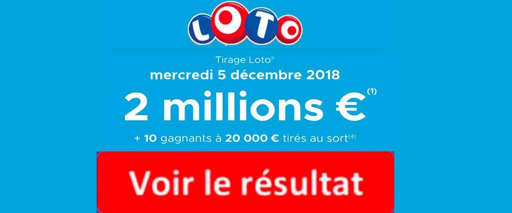 fdj resultat loto 5 decembre 2018