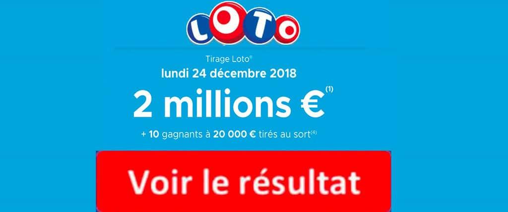 fdj resultat loto 24 decembre 2018