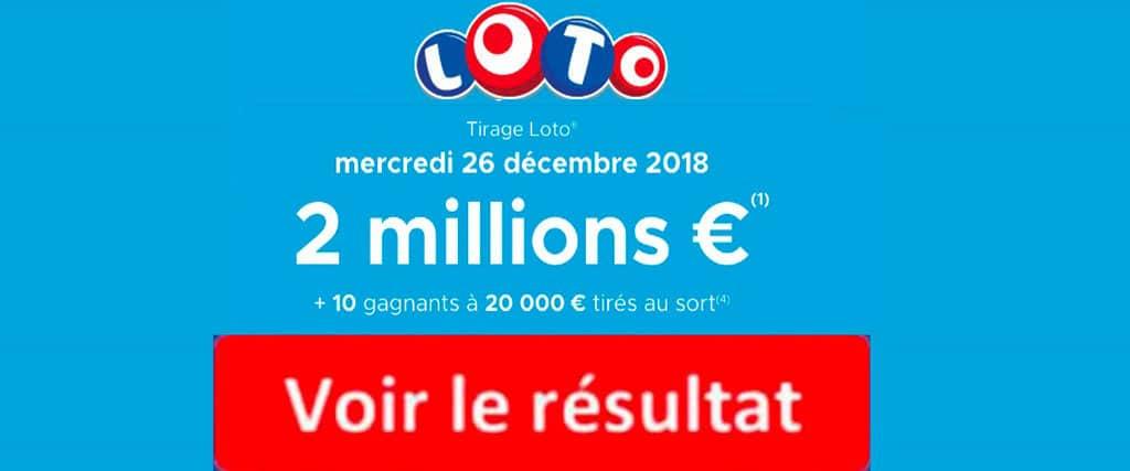 resultat loto 26 decembre 2018