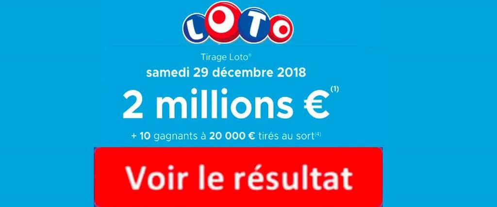 fdj resultat loto 29 decembre 2018
