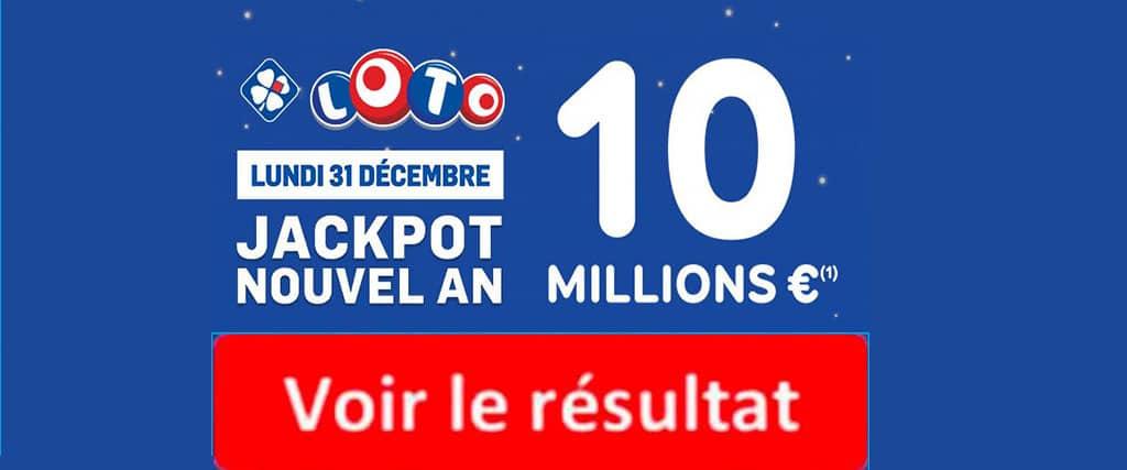 fdj résultat loto 31 decembre 2018