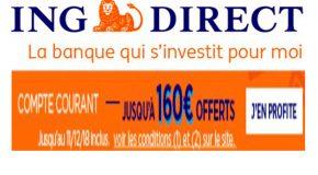 ING Direct : Offre exceptionnelle «Bingo» ouverture de compte 160€ offerts
