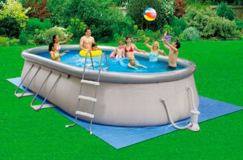 piscine hors sol rectangulaire Saint-Prix