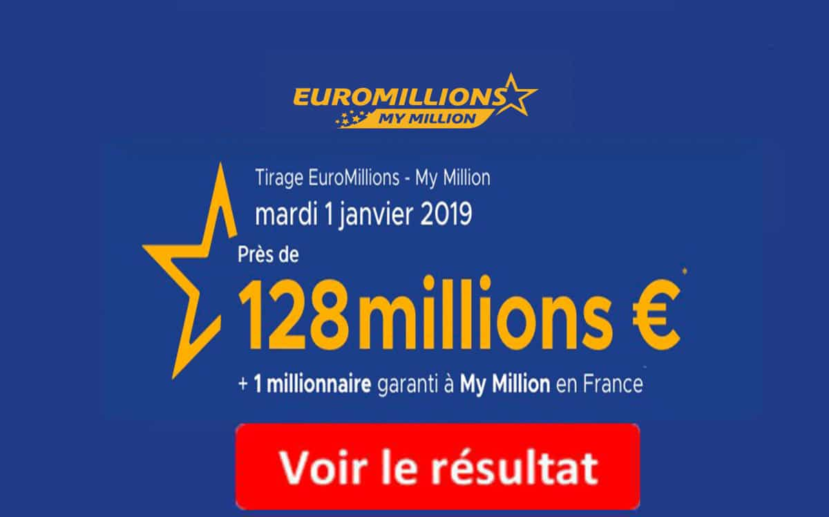 fdj resultat euromillions mardi 1 janvier 2019