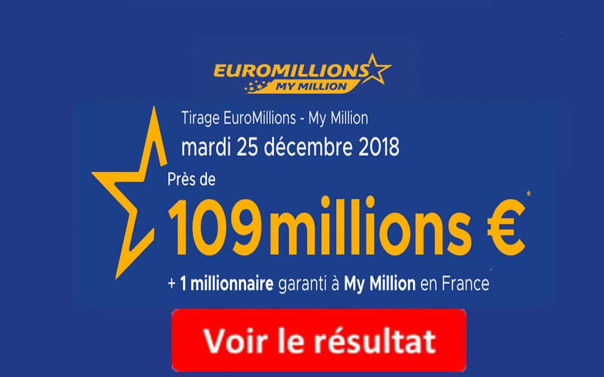 resultat euromillions mardi 25 decembre 2018