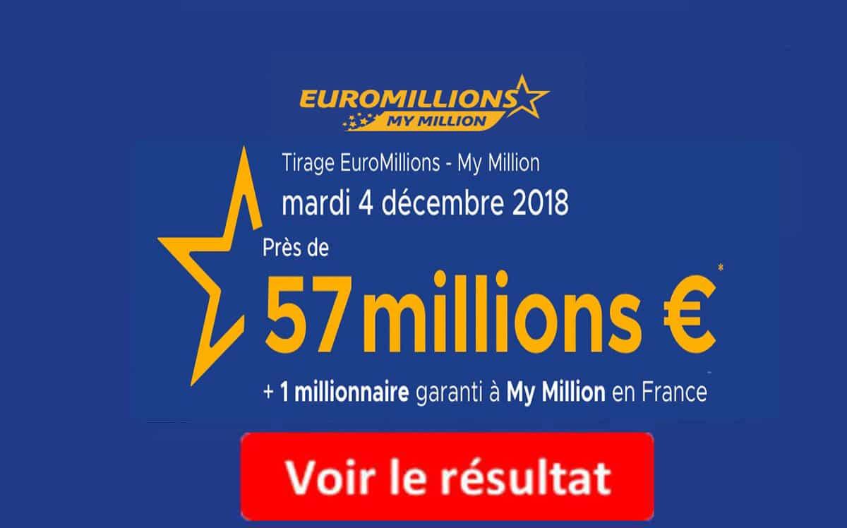resultat euromillions mardi 4 décembre 2018