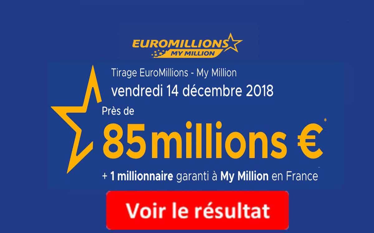 resultat euromillions vendredi 14 décembre 2018